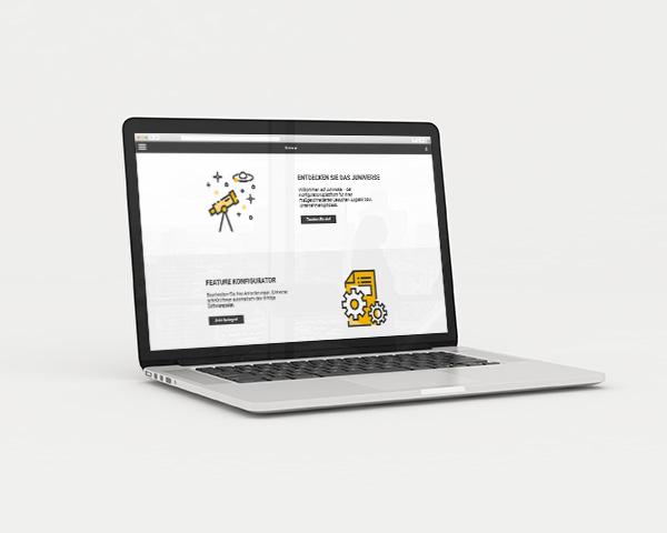 Laptop mit Prozessplanungs-Tool Juniverse